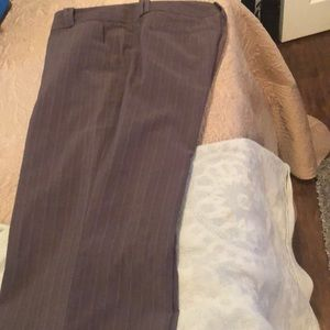 Brown pin striped pants